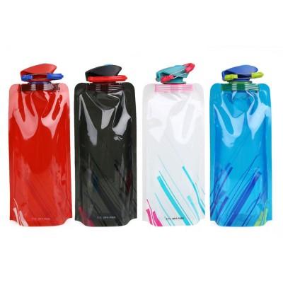 Skládací ekologická láhev Anti-Bottle Element 700ml - černá