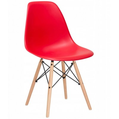 Designová židle SPRINGOS MILANO červená