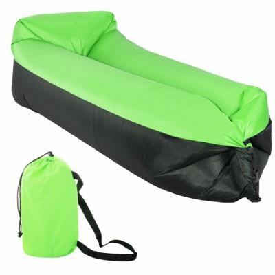 AL-DOP DUO Nafukovací vak Lazy Bag Zeleno-Černý